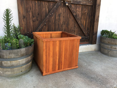 San Jose Redwood Planter Box