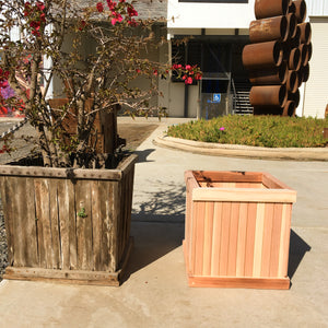 San Clemente Redwood Planter Box - Best Redwood