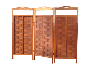 Redwood 3-Panel Room Divider Privacy Screen - Best Redwood