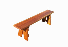 Load image into Gallery viewer, Outdoor Picnic Redwood Bench - Best Redwood