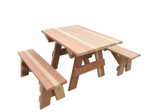 Best Rewood's Kids Picnic Table - - Best Redwood