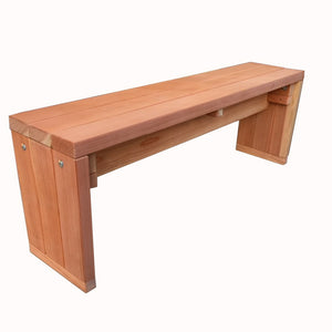 Outdoor Solid Redwood Bench