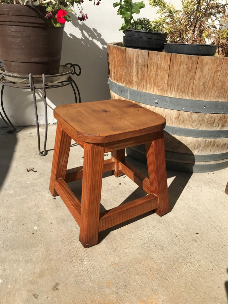 Solid Redwood Foot Stool - Best Redwood