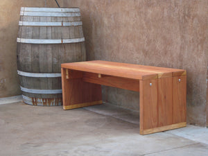 Mendocino Outdoor Redwood Bench