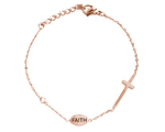 Good Work(s) Make A Difference - Pray Cross Bracelet