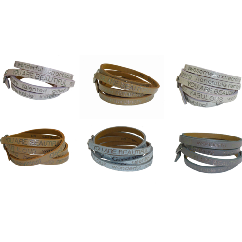 Good Work(s) Make A Difference - Leather Wrap Bracelet