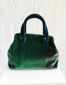 Marian Paquette Alex Emerald Green Ombre Velvet bag