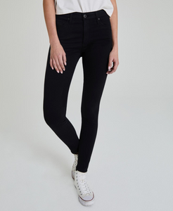 AG Farrah Skinny Black High-Rise