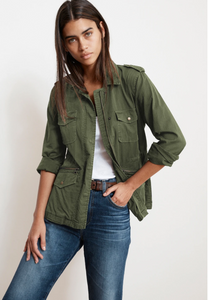 Velvet Ruby Light Weight Army Jacket
