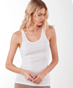 James Perse Ribbed Daily Tank White