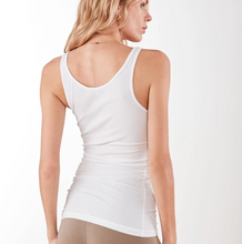 Load image into Gallery viewer, James Perse Ribbed Daily Tank White