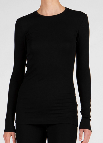 ATM Micro Modal Ribbed Crew Neck Long Sleeve