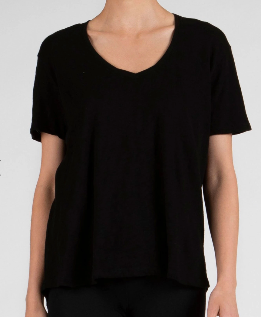 ATM Boyfriend Oversized V-Neck in Black