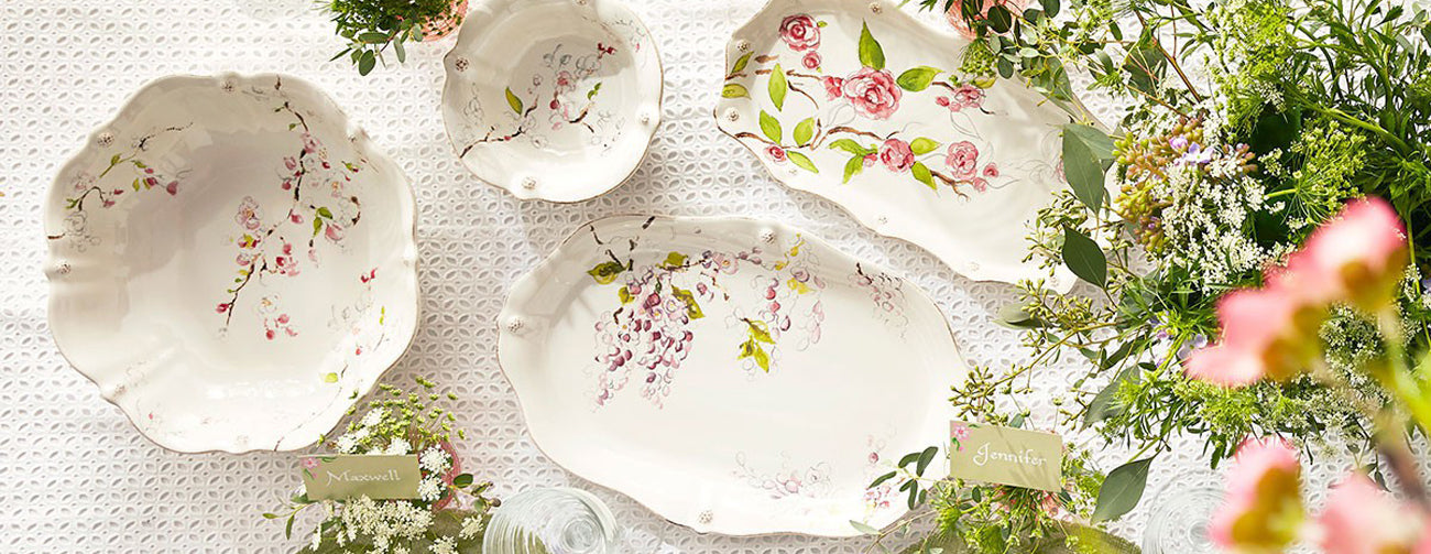 Juliska Berry & Thread Floral Sketch Dinnerware