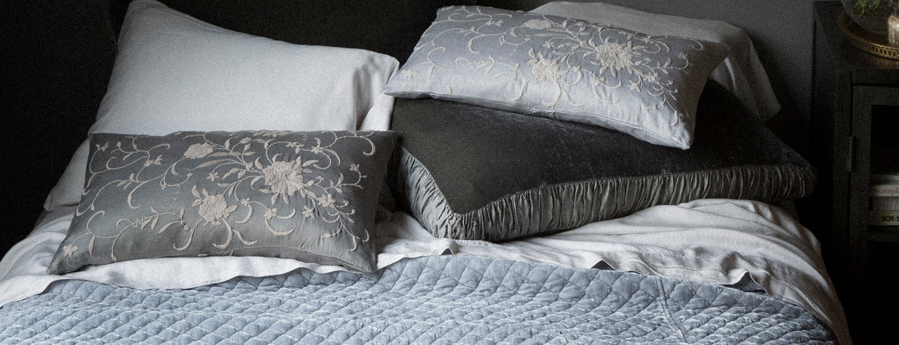 Bella Notte Linens Silk Velvet Quilted Collection
