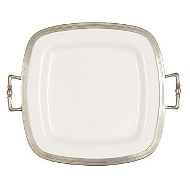 Arte Italica Tuscan Square Tray with Handles