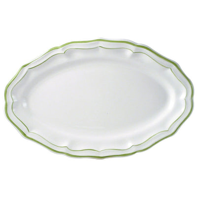 Gien Filets Verts Oval Platter