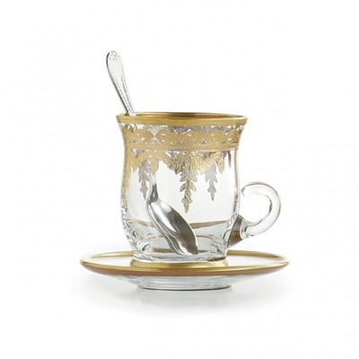 Arte Italica Vetro Cup & Saucer with Spoon (set of 4)