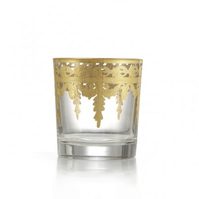 Arte Italica Vetro Gold Double Old Fashion Glass