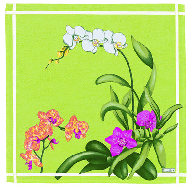 Beauville Orchidees Green Napkin