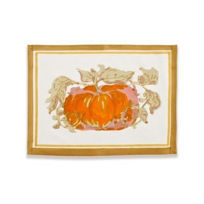 Couleur Nature Pumpkin Orange Green Placemat