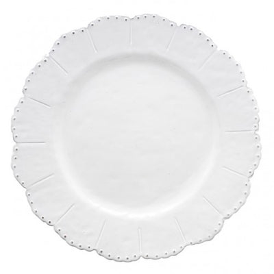 Arte Italica Bella Bianca Beaded Dinner Plate