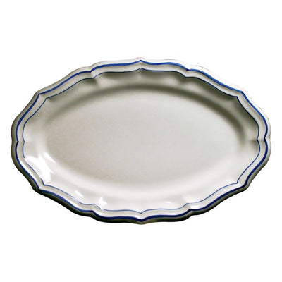 Gien Filets Bleus Oval Platter