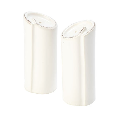 Vietri Lastra White Salt & Pepper Set