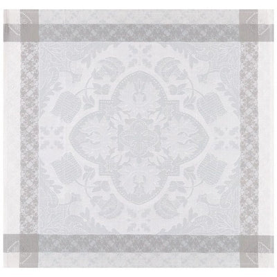 Le Jacquard Francais Azulejos Grey Coated Tablecloth