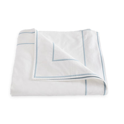 Matouk Ansonia Blue Duvet Cover
