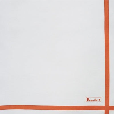 Beauville Two-coloured White/Mandarin Napkin
