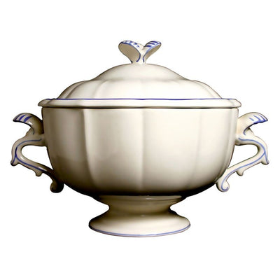 Gien Filets Bleus Soup Tureen