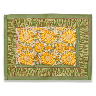 Couleur Nature Sunflower Yellow Green Placemat