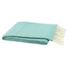 Lands Downunder Aqua Italian Herringbone Throw