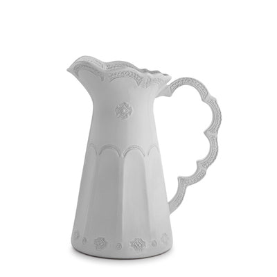 Arte Italica Merletto White Scalloped Pitcher