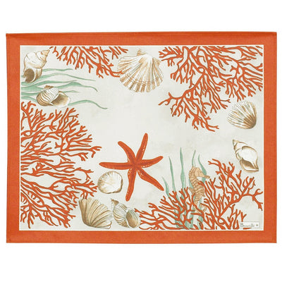 Beauville Coral Red Placemat