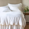 Bella Notte Linens Winter White Linen Duvet Cover