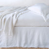 Bella Notte Linens Austin White Bed Skirt