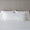 Bella Notte Linens Carmen Winter White Lumbar Pillow