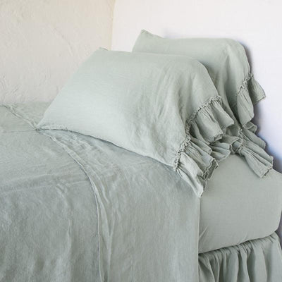 Bella Notte Linens Eucalyptus Whisper Linen Pillowcase