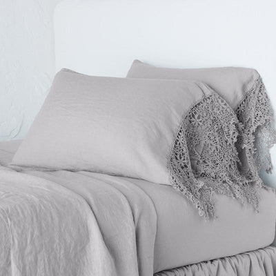 Bella Notte Linens Frida Fog Pillowcase