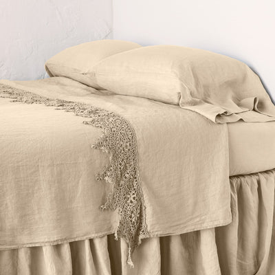 Bella Notte Linens Frida Honeycomb Flat Sheet