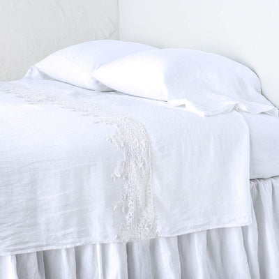Bella Notte Linens Frida White Flat Sheet