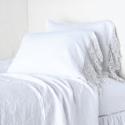 Bella Notte Linens Frida White Pillowcase