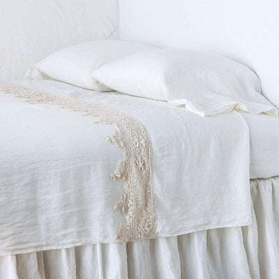 Bella Notte Linens Frida Winter White Flat Sheet