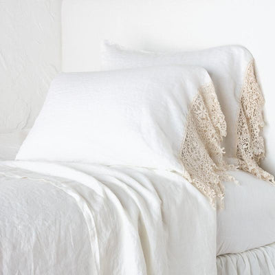 Bella Notte Linens Frida Winter White Pillowcase