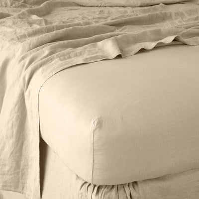 Bella Notte Linens Linen Honeycomb Fitted Sheet