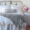 Bella Notte Linens Loulah Sterling Throw Blanket