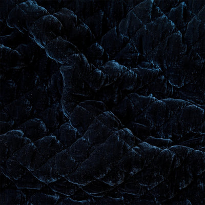 Bella Notte Linens Silk Velvet Quilted Midnight