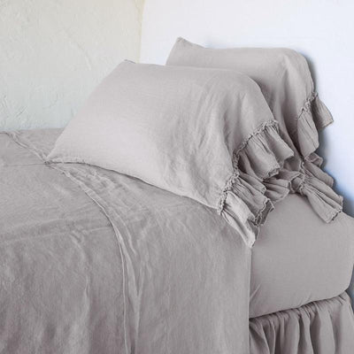 Bella Notte Linens Fog Whisper Linen Pillowcase